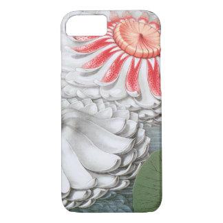 Capa iPhone 8/ 7 Flores de Waterlilies do vintage em uma lagoa do