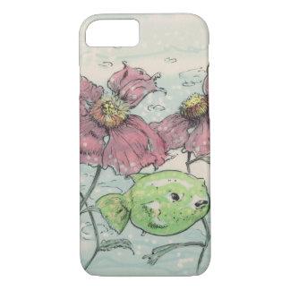 Capa iPhone 8/ 7 flores e peixes watercolored 4
