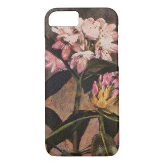 Capa iPhone 8/ 7 Flores florais pintadas rosa do rododendro