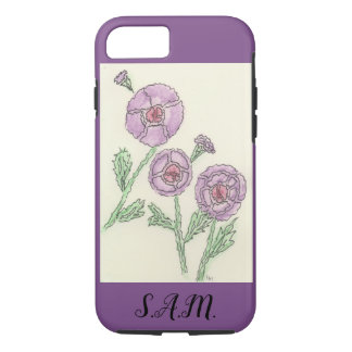 Capa iPhone 8/ 7 Flores simples do Doodle