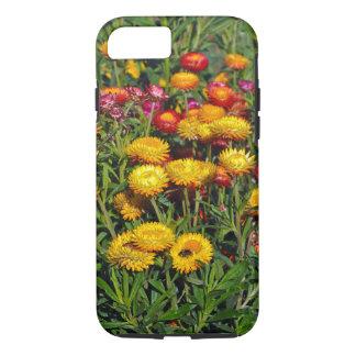 Capa iPhone 8/ 7 Flores vermelhas e amarelas do botão