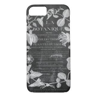 Capa iPhone 8/ 7 folhas botânicas francesas da hera da arte dos