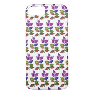 Capa iPhone 8/ 7 Folhas do arco-íris da aguarela