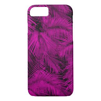 Capa iPhone 8/ 7 Folhas tropicais cor-de-rosa havaianas das palmas