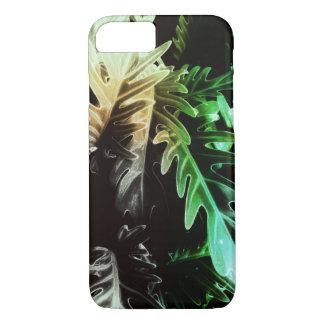 Capa iPhone 8/ 7 Folhas tropicais corajosas misteriosas