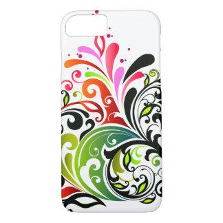 Capa iPhone 8/ 7 Forma floral retro feminino legal bonito fina