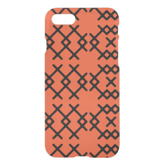 Capa iPhone 8/7 Formas geométricas do nómada alaranjado tribal da