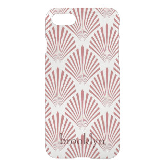 Capa iPhone 8/7 Formas geométricas do Seashell do ouro cor-de-rosa