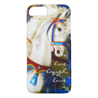 """Capa iPhone 8/ 7 """"Foto branca do cavalo do carrossel das citações"""