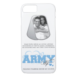 Capa iPhone 8/ 7 Foto feita sob encomenda da esposa do exército no