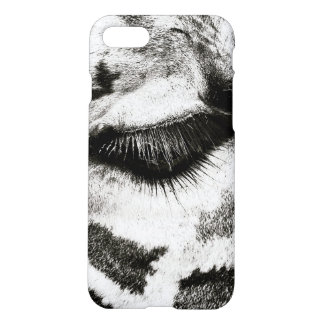 Capa iPhone 8/7 Foto preto e branco do olho do girafa