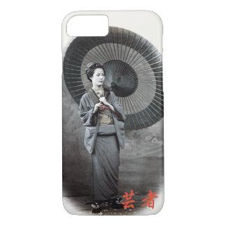 Capa iPhone 8/ 7 Fotografia do vintage:  Menina de gueixa com