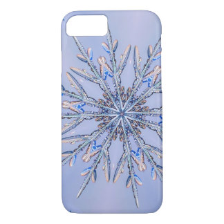 Capa iPhone 8/ 7 Fractal real 6 do floco de neve