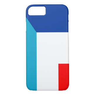 Capa iPhone 8/ 7 france luxembourg embandeira o meio símbolo do