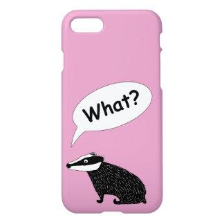 Capa iPhone 8/7 Frank o texugo, cores felizes do caráter animal