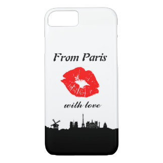 Capa iPhone 8/ 7 From Paris With Love iPhone 7 Compartimento