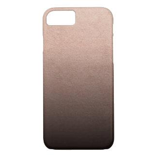 Capa iPhone 8/ 7 Fundo cor-de-rosa de Ombre do preto da folha de