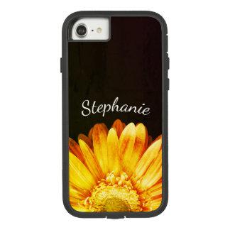 Capa iPhone 8/ 7 Fundo da pintura da flor do Grunge com nome