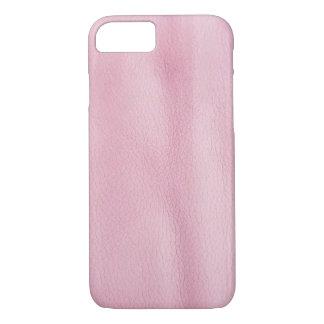 Capa iPhone 8/ 7 fundo de couro cor-de-rosa