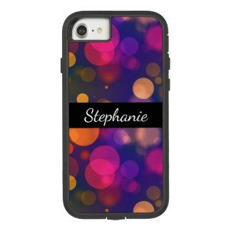 Capa iPhone 8/ 7 Fundo roxo, cor-de-rosa brilhante de Bokeh com
