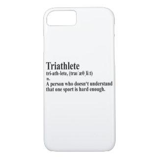 Capa iPhone 8/ 7 Funny triatlo definição - Case iPhone