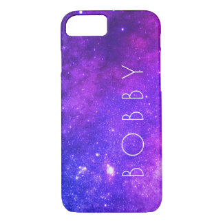 Capa iPhone 8/ 7 Galáxia colorida/roxa da galáxia
