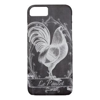 Capa iPhone 8/ 7 galo francês da galinha do país do quadro rústico