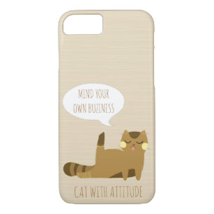Capa iPhone 8/ 7 Gato com atitude