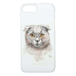 Capa iPhone 8/ 7 Gato da dobra do Scottish
