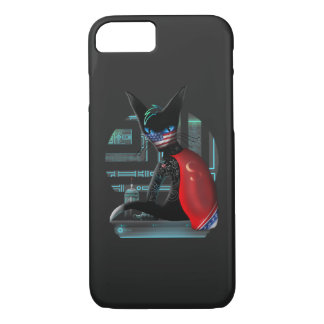 Capa iPhone 8/ 7 Gato de Ninja do Cyberpunk