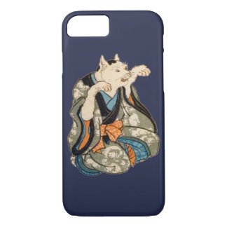 Capa iPhone 8/ 7 Gato do quimono, Utagawa Yoshifuji, Ukiyo-e
