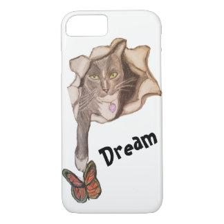 Capa iPhone 8/ 7 Gato e borboleta