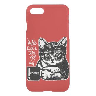 Capa iPhone 8/7 Gato engraçado motivado pelo café
