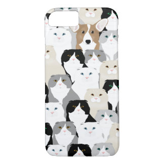 Capa iPhone 8/ 7 Gatos e cães Apple iPhone8-7, mal lá telefone