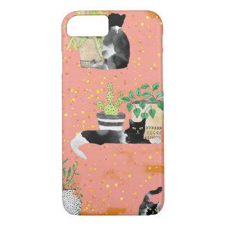 Capa iPhone 8/ 7 Gatos e plantas