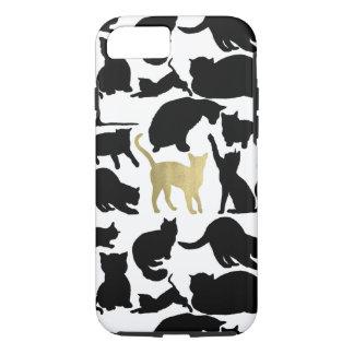 Capa iPhone 8/ 7 Gatos pretos do ouro