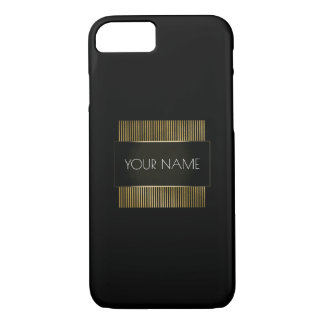 Capa iPhone 8/ 7 Geometria mínima conceptual branca do ouro preto