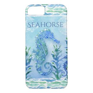Capa iPhone 8/ 7 Geométrico moderno da praia do oceano do cavalo
