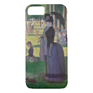 Capa iPhone 8/ 7 GEORGE SEURAT - Um 1884 um domingo à tarde