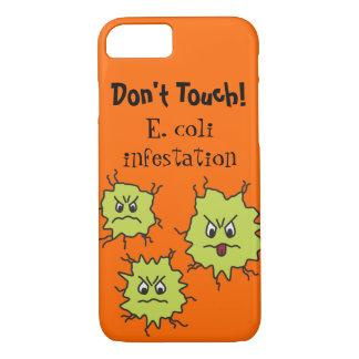 Capa iPhone 8/ 7 Germes irritados de Escherichia Coli engraçados
