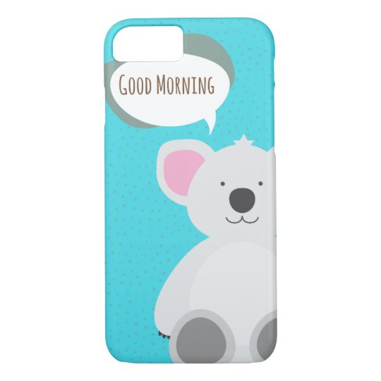 Capa iPhone 8/ 7 Good Morning Koala