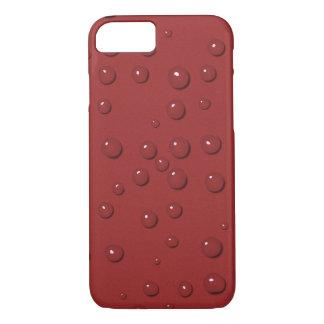 Capa iPhone 8/ 7 Gotas da água na areia do vermelho do amaranto