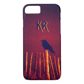 Capa iPhone 8/ 7 Gótico Quoth o corvo sob o céu da meia-noite,