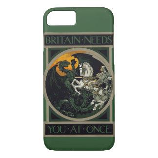 Capa iPhone 8/ 7 Grâ Bretanha precisa o imediatamente de knight & o