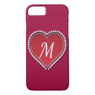 Capa iPhone 8/ 7 Grande coração vermelho