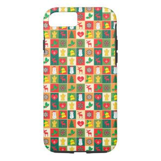 Capa iPhone 8/ 7 Grande teste padrão do Natal