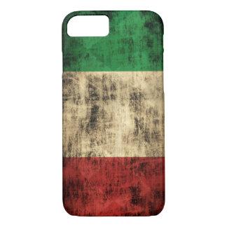 Capa iPhone 8/ 7 Grunge italiano do vintage da bandeira