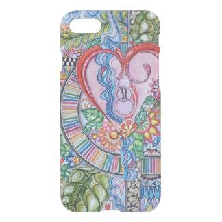 Capa iPhone 8/7 Guarde seu iPhone 7 do coração, 6/s, caso 5/s