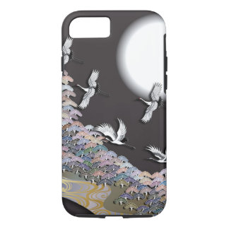Capa iPhone 8/ 7 Guindastes, lua e pinhos