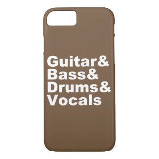 Capa iPhone 8/ 7 Guitar&Bass&Drums&Vocals (branco)